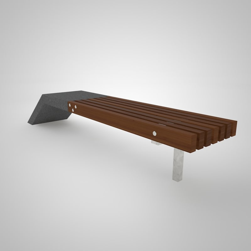 3d model line benches