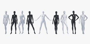 3d model female mannequin