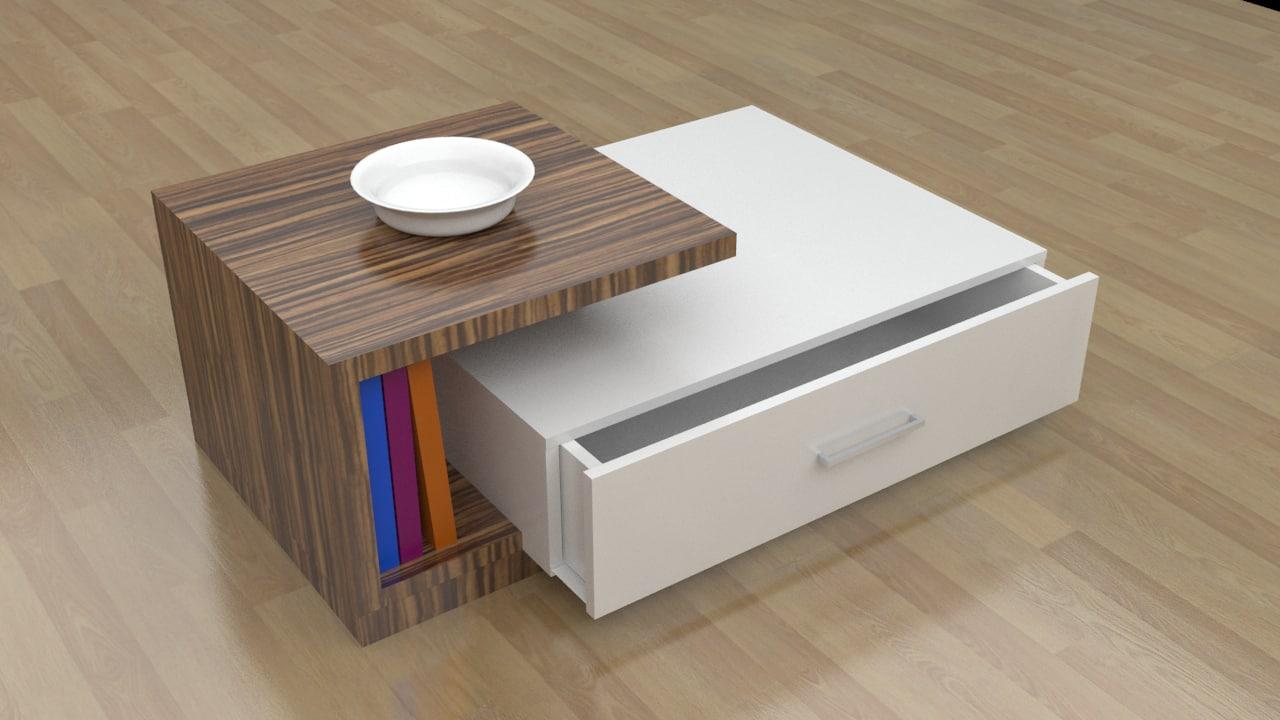 213 quatro coffee table 3d model