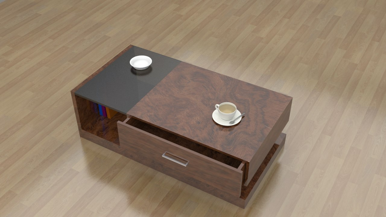 coffee table v2 3d max