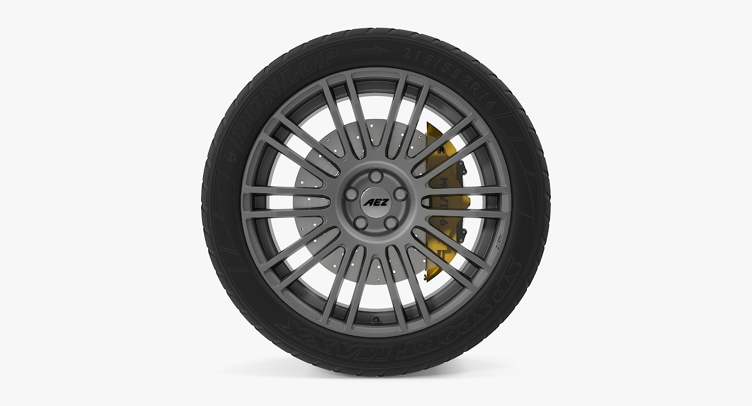strike graphite disk car wheel 3d model