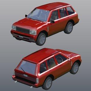 3d model vehicle poser car