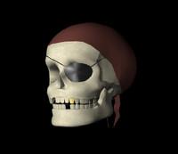 pirate skull 3d model
