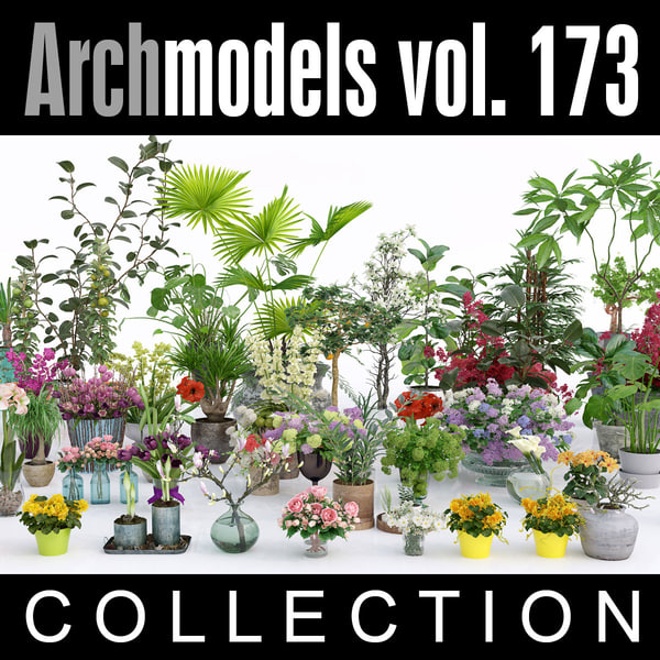 archmodels vol 173 flowers 3d max