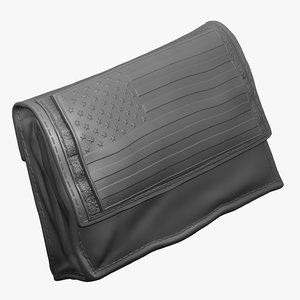 zbrush tactical battery pouch 3d model