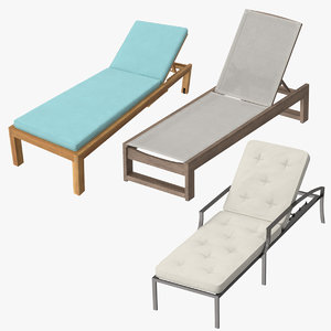outdoor chaises 3d max