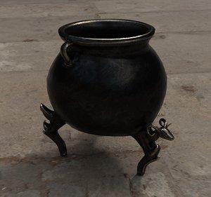 3d model cauldron