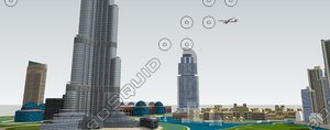 dubai downtown 3d 3ds