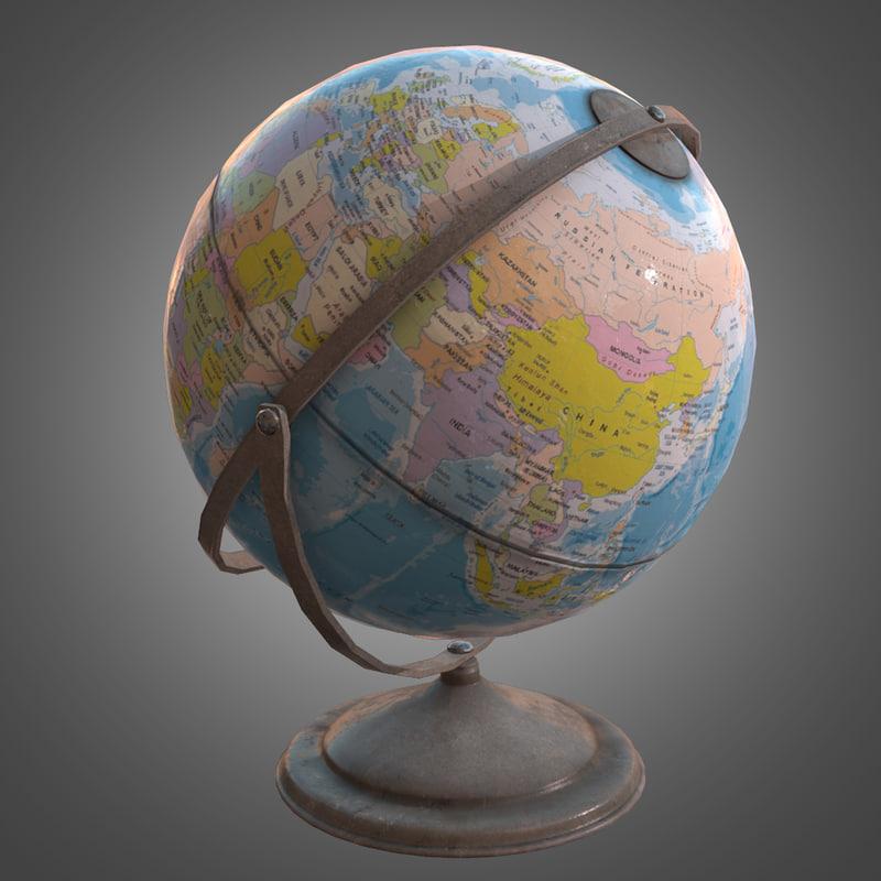 globe - pbr ready obj