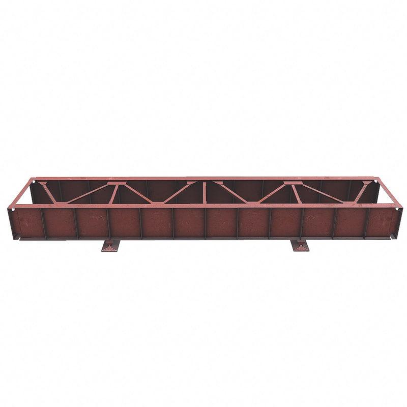 railway bridge steelwork 3d x