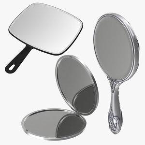 3d hand mirrors model