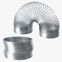 Metal Slinky Straight and Curved