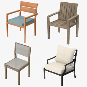 patio chairs 3d model