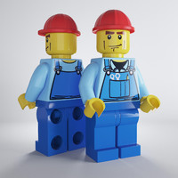 3d lego workman model