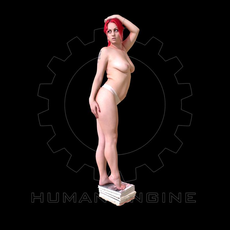 Female Scan - Sonya Topless
