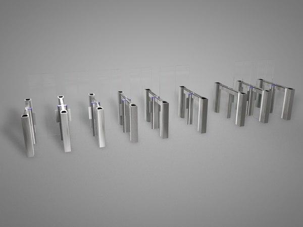 3d model entry access gates