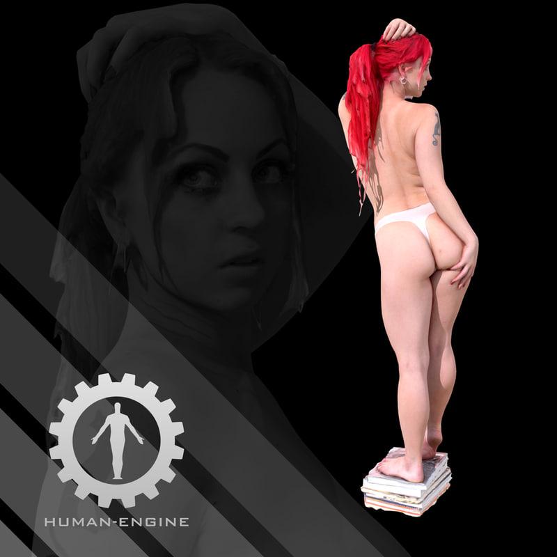 female scan - sonya 3d obj
