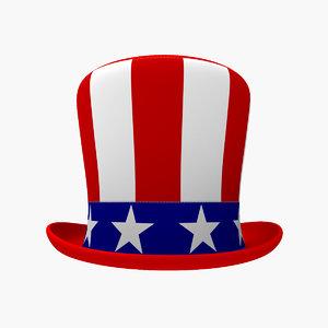 3d usa hat