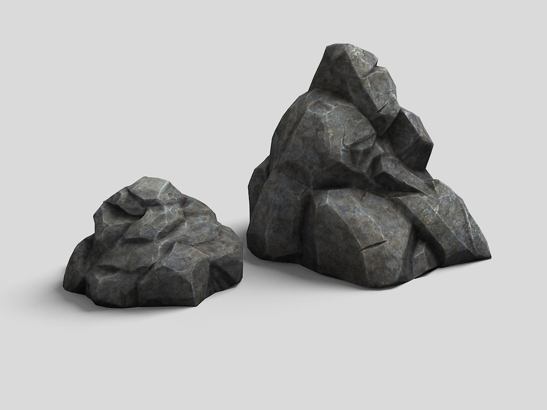 rocks 3d max