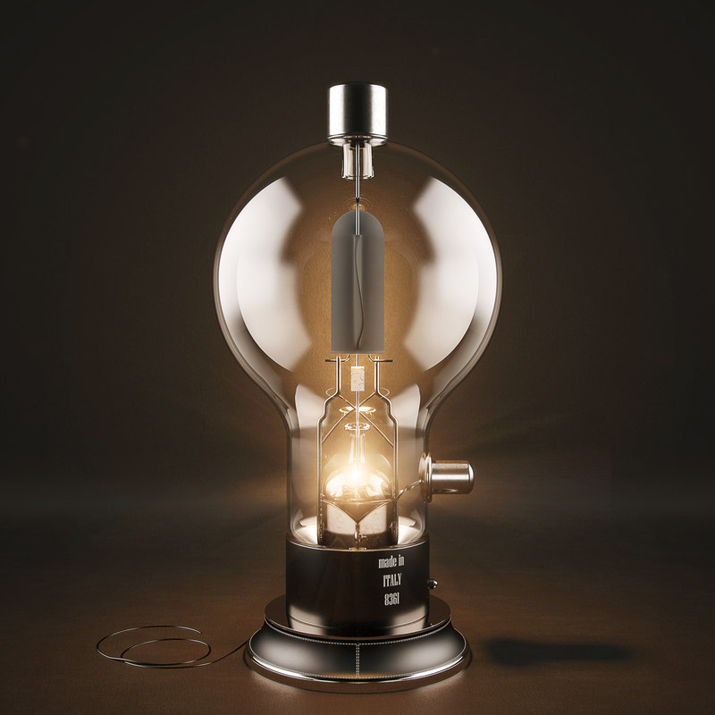 3d table lamp art auctor