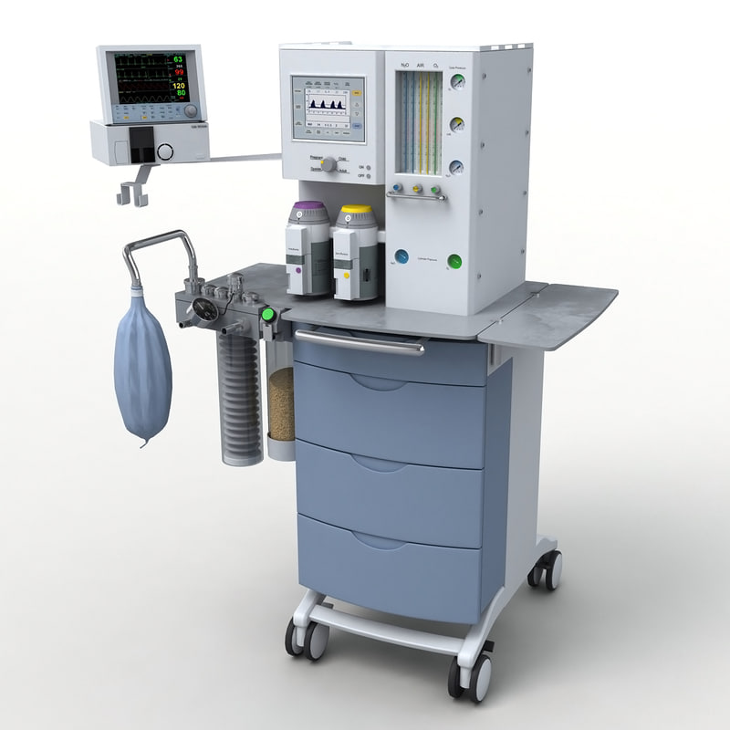 medical anesthesia machine 3d max