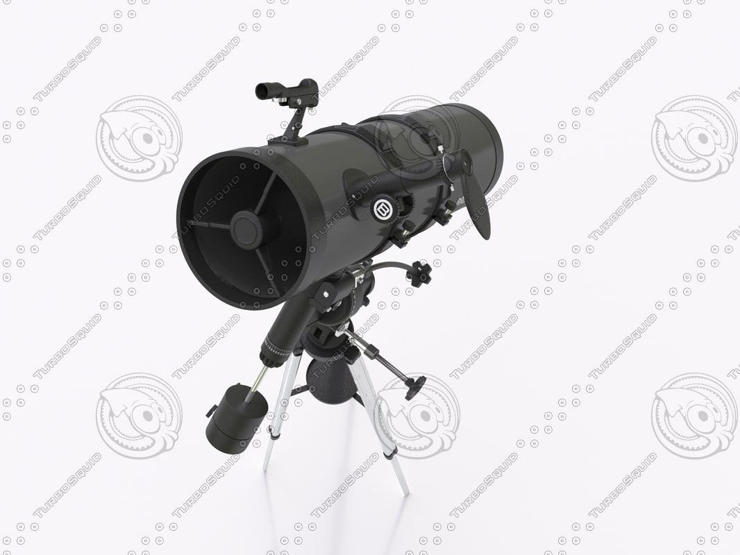telescope zeben 3d model