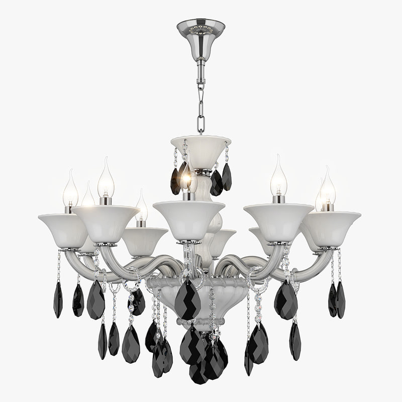 chandelier 881100 md89189-10 bianca 3d model