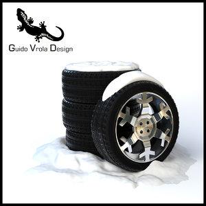 snow tires set 3ds