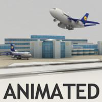 3d model airport planes