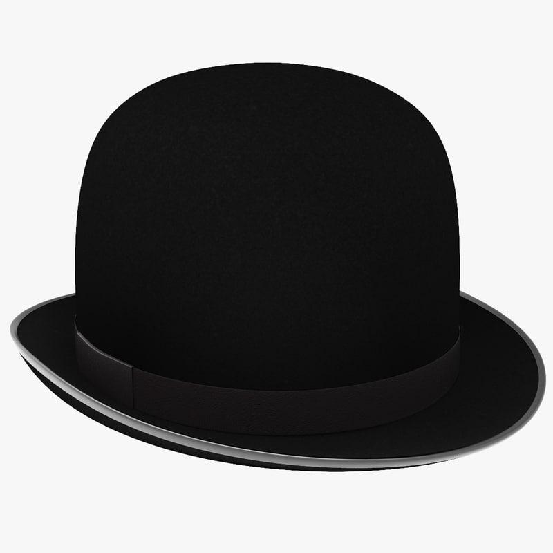 bowler hat 3d 3ds