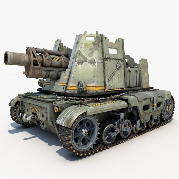 tank post apocalyptic 3d model