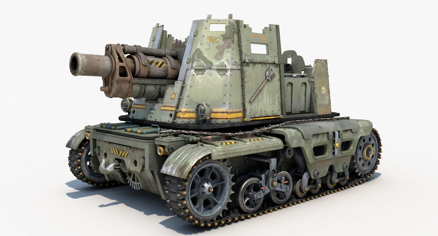 tank post apocalyptic 3d model