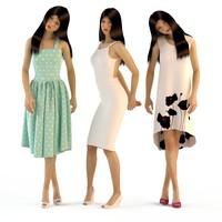 woman dresses 3d model