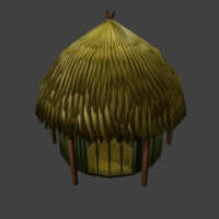 tribal house 3d 3ds