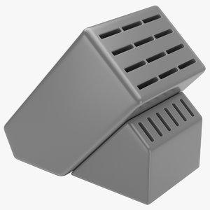 3d knife block model