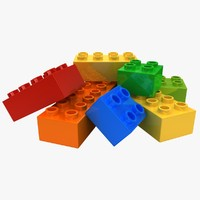 realistic lego bricks 2 3d model