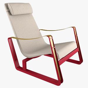 3d model cite chair lounge
