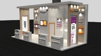 fair exhibition stand implant 3d max