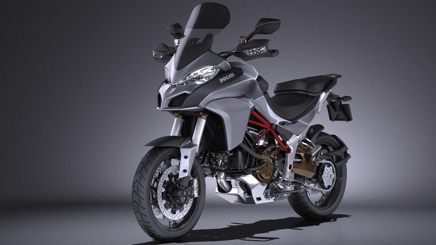 2017 1200 ducatti 3d model