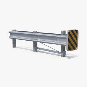 highway guardrail end 3d max
