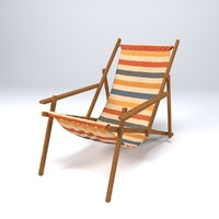 3d model beach chair lounge