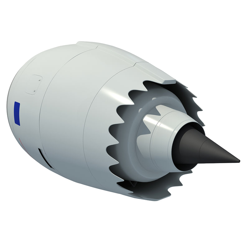 3d aircraft jet turbofan engine model