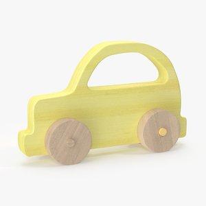 baby wooden car 3d model