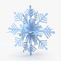 blue decorative snowflake 3d model