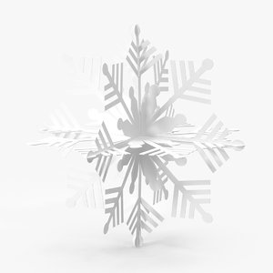 3d white decorative snowflake