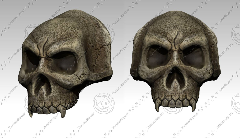 skull shoulder 3d 3ds