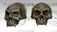skull shoulder 3d 3ds