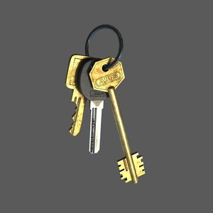 door keys 3d model