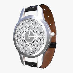 wrist watch 3d x