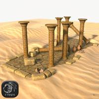 realistic desert ruins ancient 3d max